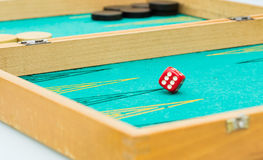 Backgammon. During a Backgammon party in France Royalty Free Stock Image