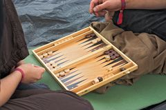 Backgammon players Stock Photography
