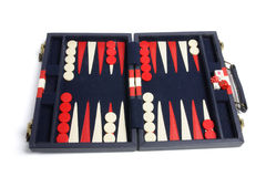 Backgammon Set. On White Background Stock Photo