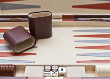 Backgammon set Stock Image