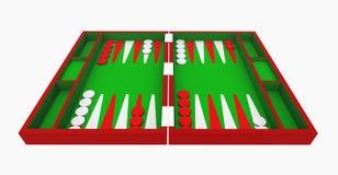 Backgammon set isolated on white background Stock Images