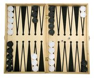 Isolated Backgammon Set Stock Photography