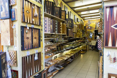 Backgammon shop Stock Photo
