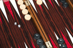 Backgammon table Royalty Free Stock Photography
