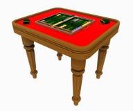 Backgammon table isolated on white background Royalty Free Stock Photos