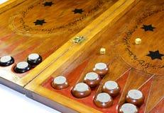 backgammon Tavola reale fatta a mano immagini stock libere da diritti