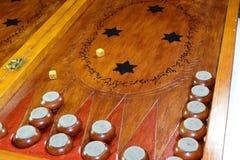 backgammon Tavola reale fatta a mano fotografie stock