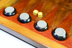 backgammon Tavola reale fatta a mano fotografia stock