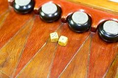 backgammon Tavola reale fatta a mano immagini stock