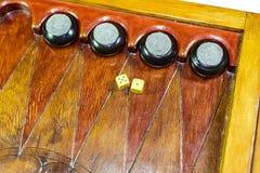 backgammon Tavola reale fatta a mano immagine stock