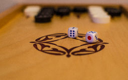 Backgammon. Traditional board game of backgammon Stock Images