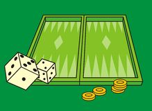 Backgammon (Vector) Royalty-vrije Stock Afbeelding