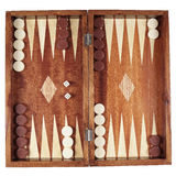 Backgammon. Wooden tavli board game from greece stock image