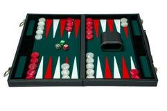 BackgammonBrettspiel - Ausschnittspfad stockfotografie