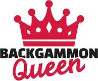 Backgammonkoningin Royalty-vrije Stock Afbeeldingen