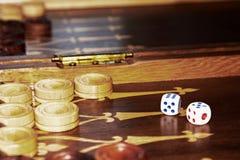 Backgammonraad Stock Fotografie