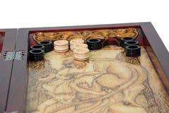 Backgammonspel Royalty-vrije Stock Afbeeldingen