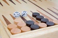 backgammontärning Arkivbild