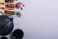Чай традиционного китайского травяной стоковое изображение rf