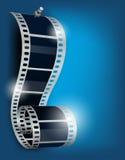 backgorund μπλε εξέλικτρο ταινιών απεικόνιση αποθεμάτων