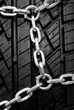 Backgorund of black rubber tyre Royalty Free Stock Photography