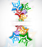 Backgorund with colorful stars Royalty Free Stock Photos