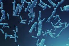 backgorund del virus dell'illustrazione 3D Influenza del virus, epatite, AIDS, E coli, bacillo dei due punti Concetto di scienza  royalty illustrazione gratis