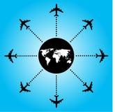 Backgorund dell'aeroplano Immagine Stock Libera da Diritti