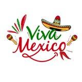 Backgorund di vettore di Viva Mexico