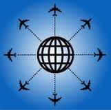 Backgorund do avião ilustração stock