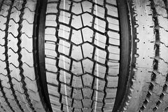 Backgorund of many black rubber tyres Royalty Free Stock Images