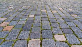 Backgorund pavé en cailloutis de trottoir Photo libre de droits