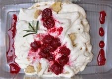 backgound蛋糕樱桃查出的范例文本白色 库存图片