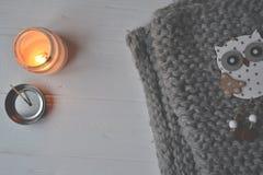 Backgound стиля зимы Объекты для домашнего украшения Стоковые Изображения