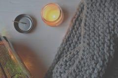 Backgound стиля зимы Объекты для домашнего украшения Стоковые Фотографии RF