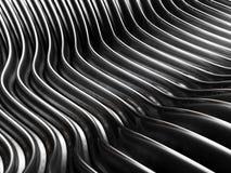 Backgound abstracto de plata del metal de la curva Foto de archivo libre de regalías