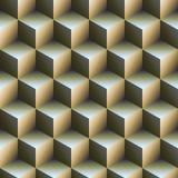 Backgound abstracto del cubo Stock de ilustración