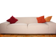 Backgound -  Big comfy Sofa. Big, comfy Sofa with Cushions - to be used as Backgound Royalty Free Stock Photography
