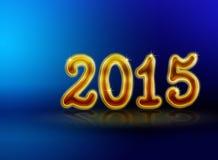 Backgound 2015 bleu de nouvelle année Photos stock