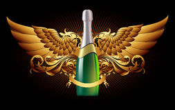 Backgound with champagne Royalty Free Stock Image