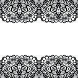 Backgound de encaje Cordón negro Imagen de archivo libre de regalías