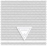 Backgound de la línea elementos geométricos del diseño del vintage del inconformista Imagen de archivo