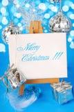 Backgound de la Navidad con saludos Foto de archivo libre de regalías