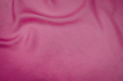 Backgound de seda cor-de-rosa da textura Fotos de Stock Royalty Free