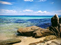 Backgound de Tirquoise de Sithonia Photographie stock libre de droits