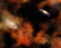 Backgound del cielo dello spazio Fotografia Stock Libera da Diritti