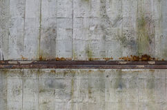 Backgound del metallo e di legno Fotografia Stock Libera da Diritti