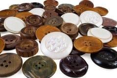Backgound del vario botón de costura Fotografía de archivo libre de regalías