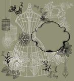 Backgound do vintage - forma e sewing Imagens de Stock Royalty Free