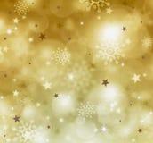 Backgound dourado do Natal Fotografia de Stock Royalty Free